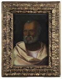 bearded man (saint peter?) by giovanni bellini