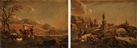landscape with shepherds and cattle by nicolaes berchem