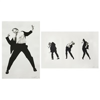 men in the cities (2 works) by robert longo