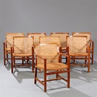 the kings furniture armchairs (set of 8) by rud thygesen and johnny sorensen