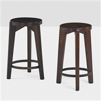 stools from the chandigarh administrative buildings (pair) by pierre jeanneret
