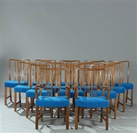 dining chairs (set of 14) by c.b. hansens etabl. (co.)