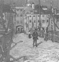 die traunbrücke in gmunden by albert aereboe