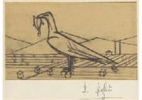 crecerelle from les chants de maldoror by bernard buffet