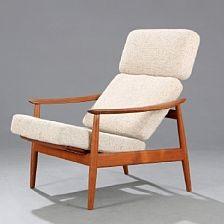 Easy Chair With Teak Frame Von Arne Vodder Auf Artnet