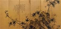 bamboo and rocks by hong tanji