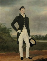 portrait of a gentlemen by james (of bath) loder