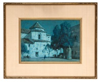 spanish church nocturne by a. moulton foweraker
