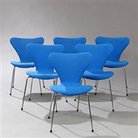 seven chair (model 3107) (set of 7) by arne jacobsen