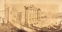 ansicht des forum romanum in rom by domenico anderson