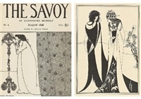 cover of the savoy (+ 3 others; set of 4) by aubrey vincent beardsley