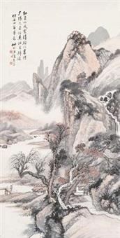 红叶清溪 by wang kun