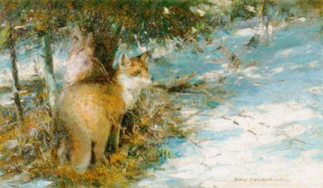 Fuchs Im Winter Von Max Rudolf Schramm Zittau Auf Artnet