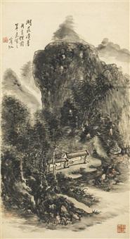 recluse in lofty mountain by huang binhong