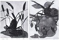 昆虫记之绿蚱蜢 (+ 昆虫记之天牛, various sizes; 2 works) by xiao yong