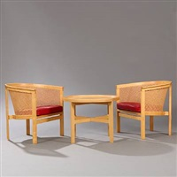 the kings furniture chairs and coffee table (set of 3) by rud thygesen and johnny sorensen