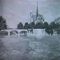 paris. seine mit notre dame im hintergrund. by eugène nys