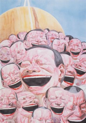 smile ism series smiles makes the world go around by yue minjun