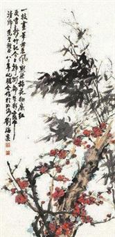 花卉 (一件) by zhu qizhan and liu haisu