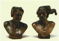 charakterkopf (+ another; pair) by franz xaver messerschmidt