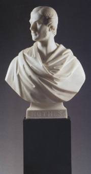 a bust of george william evelyn leslie, 16th earl of rothes by william brodie