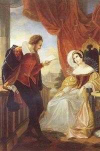 ungt par i renaissancedragter by cesare mussini