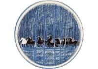 equitation en sous-bois (plate) by andré brasilier