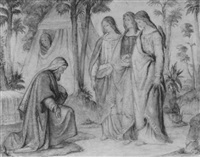 die drei engel bei abraham by philipp veit