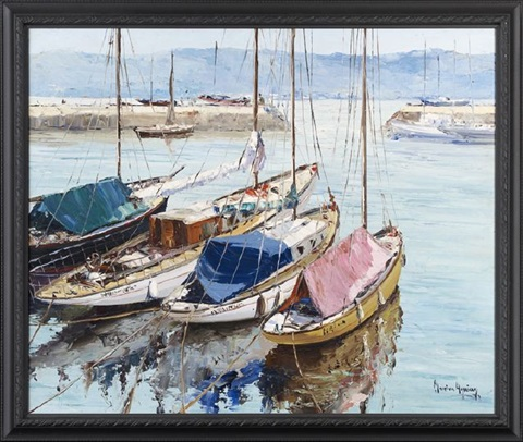 harbor scene by moreira aguiar