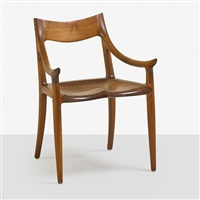 sculpted armchair by sam maloof
