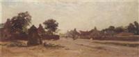 a village scene by rosie j. morison
