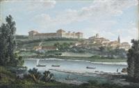 veduta del castello di moncalieri by italian school-piedmont (19)