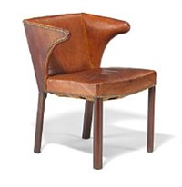 armchair with mahogany frame by frits henningsen
