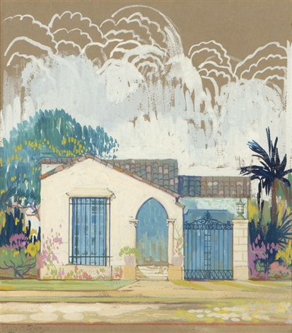 california residential rendering by louis comfort tiffany
