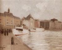 waxholmsbåtar vid blasieholmen - stockholm by akke kumlien