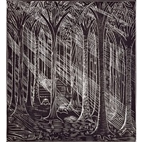 solid forest (from song of the broad axe) by wharton h. esherick