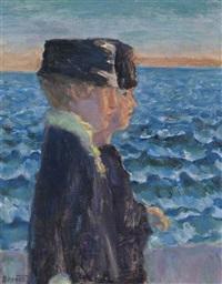 jeunes femmes au bord de la mer by pierre bonnard