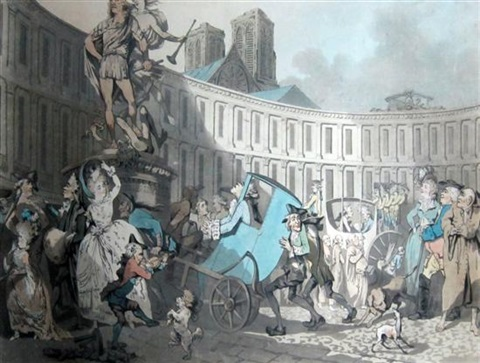 place des victoires paris by thomas rowlandson