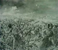 russian army advancing by leon tzeytline