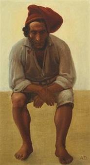 portrait of a fisherman by anton laurids johannes dorph