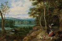 ruhe auf der flucht nach ägypten by jan brueghel the younger and peeter van avont