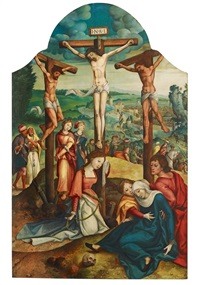 the crucifixion of christ by jan van scorel