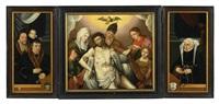 triptychon mit stifterporträts by bartholomäus (barthel) bruyn the younger