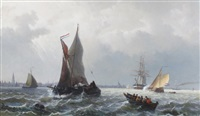 seascape by jacob willem gruyter