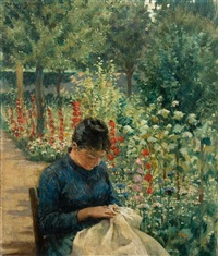 the garden of giverny, france by james carroll beckwith