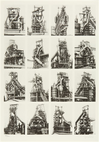 hochöfen set of 8 by bernd and hilla becher