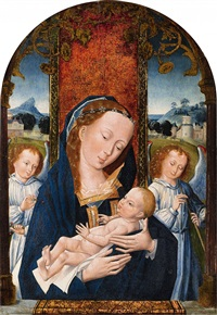 the virgin and child with angels by flemish school (16)