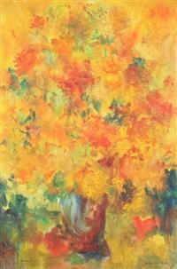 orange and red flowers by honey w. kurlander
