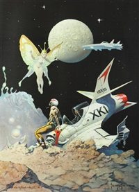 encounter and dream flight (2 works) by frank frazetta