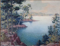 lakeside landscape by carl wendell rawson